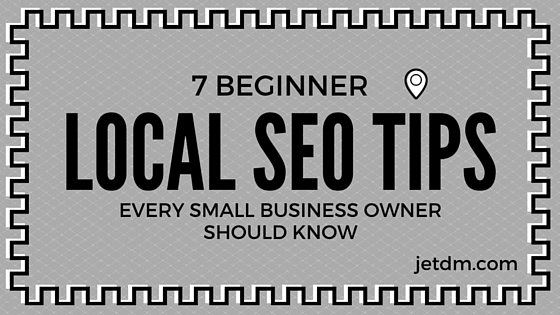 beginner local seo tips small business owner