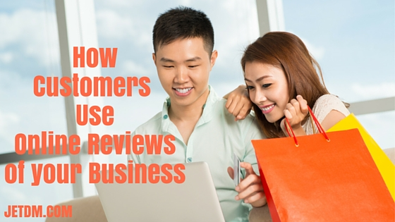 how customers use online reviews of your business